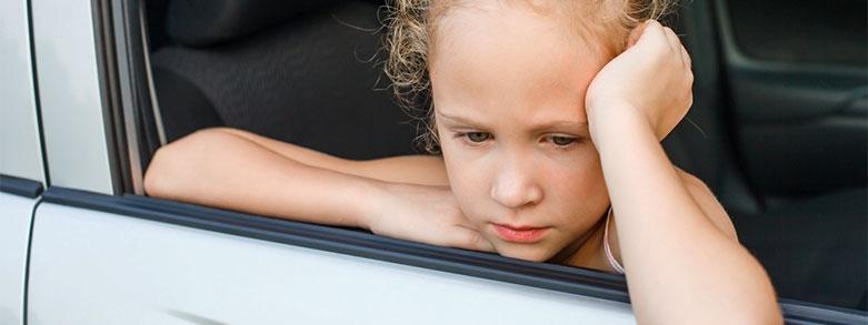 Barn som blir åksjuka